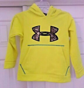 🌲 Under Armour Youth XS Yxs Neon Yellow Camo Hoodie Boys New Nwt Real tree $19.99