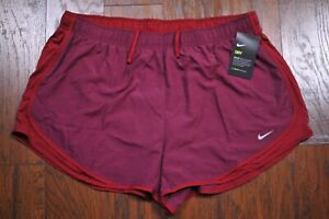 NWT Nike Dri Fit Tempo Lined Run Shorts Red Heather Women's 1X $0.99