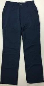 """Under Armour Men 32"""" Vented Golf Pants Straight 1347389 Navy Blue 408 Size 34 32 $39.99"""
