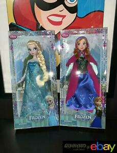 2013 Disney Store Exclusive Frozen Dolls First Edition Elsa and Anna $100.00