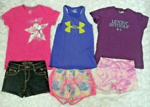 Girls Clothes Outfits lot Size 10 12 UNDER ARMOUR Tops JUSTICE Jean Shorts FREE $49.99