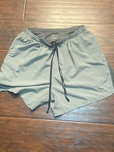 Gray Nike Dry Fit Men's Athletic Running Shorts With Liner Size Adult Large $17.50