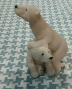 QUARRY CRITTERS PETER amp; POLLY POLAR BEAR FAUX GRANITE COLLECTIBLE FIGURINE $7.99
