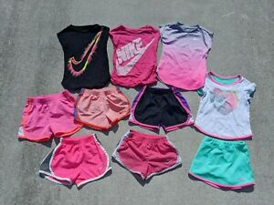 Nike Dri Fit Tempo Under Armour Shorts Shirts Toddler Girls Lot 4T $75.00