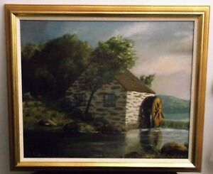Reduced Free Ship antique original oil Listed T Bailey Paskell Landscape  $119.00