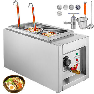 Commercial 2 Holes Noodle Cooking Machine Electric Pasta Cooker w Filter Basket $91.98
