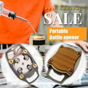 Manual Wooden Go Swing Topless Can Opener Safe Smooth Edge Cut Opener Tool