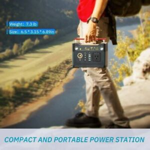 Rockpals 300W Portable Power Supply Station Battery Pack Flashlight Camping