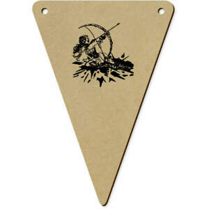 5 x 140mm #x27;Archer Lady#x27; Wooden Bunting Flags BN00036702