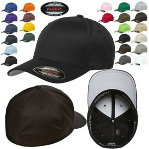 FLEXFIT Classic ORIGINAL 6 Panel Fitted Baseball Cap HAT S M amp; L XL All Colors $12.88