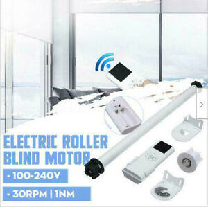 100V 240V DIY Electric Roller Blind Shade Roller Tubular Motor Remote Control