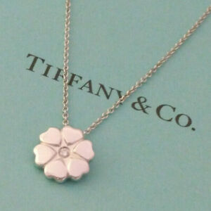Tiffany amp; Co. Paloma Picasso Crown of Hearts Diamond Pendant Necklace Silver