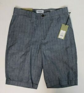 Goodfellow amp; Co. Mens Shorts Cement Blue Linden Flat Front Shorts Sizes 28 30 32 $11.99