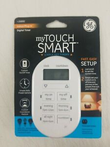 My Touch Smart By Jasco GE 26892 Indoor Simple Plug-In Digital Timer White NEW