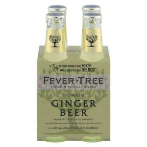 24 Fever Tree Premium Ginger Beer 6.8 Fluid Ounces 4 per pack 6 packs per case