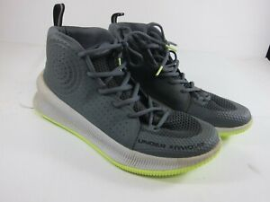 Under Armour UA Jet Mens Size 10 Grey White Basketball Athletic Shoes 3022051 10 $24.99