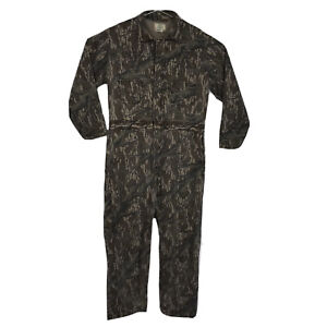Mens Large Vintage USA Made Mossy Oak Camouflage Hunting Coveralls UNINSULATED