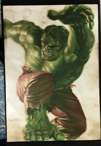 Alex Ross * Hulk Smash Poster Lithograph 28 x 41 * Limited to 150 * MSRP $100 $59.95