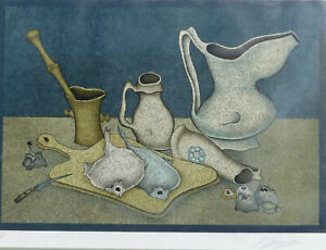 Mihail Chemiakin – Lithograph S N Still Life with Fish and Knife $1200.00
