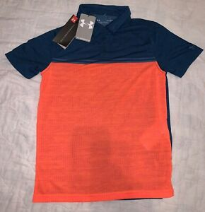 NEW Boy's Under Armour Youth Golf Polo Shirt Size Large YLG NWT $12.99