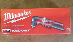 New Milwaukee 2415 20 12 V Li Ion 3 8quot; Cordless Right Angle Drill Free Shipping $69.00