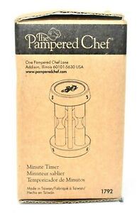 New in Box The Pampered Chef Minute Tea Timer 1, 3, & 5 Minutes Hour Glass 1792