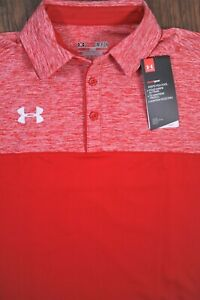 NWT Under Armour Performance Polo Shirt Red Men's Small S $9.50
