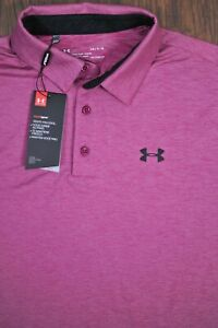 NWT Under Armour Performance Polo Shirt Purple Heather Men's Large L $28.00