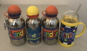 Lot of 4 Stainless Steel Kids Drink Bottles and Mug Customized with name Landon