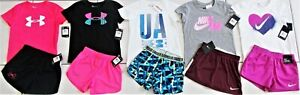 GIRL'S SZIE 6 6X NIKE & UNDER ARMOUR GIRL'S SUMMER OUTFITS CLOTHING LOT NWT! $139.00