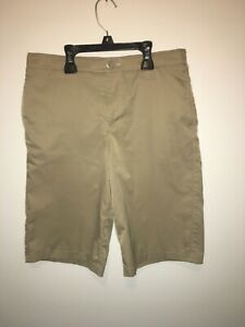 Under Armour Youth Match Play Golf Shorts Boys Size 16 Khaki $20.00
