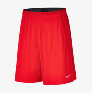 Nike Shorts Mens XL to 3XL University Red Authentic Dri Fit 2 Pocket Fly 9 Inch $27.99