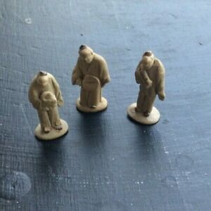 Vintage Micro Miniature Mud Men Handmade Figurines Chinese Sculptures 3 $16.95