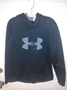 UNDER ARMOUR Sz Small Black Pullover Hoodie. STORM $11.99