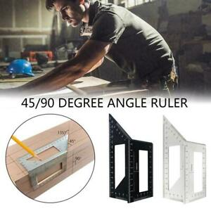 Multifunctional Square 45 90 Degree Gauge Angle Ruler Measuring Tools Charm $6.79