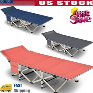 Camping Cots Max Load 600LB Portable Folding Lightweight Beds Hike Travel Office