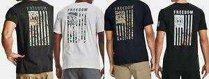 Under Armour Mens UA Freedom Flag Camo Graphic Tee 1343564 001 NWT $22.45