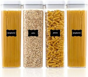 Airtight Food Storage Containers, Vtopmart 4 Pieces BPA Free Tall Plastic Pasta