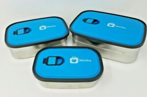 MONKA RECTANGULAR STAINLESS STEEL GASKET FOOD STORAGE CONTAINERS - KIDS LUNCH -