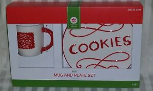BOXED TARGET KIDS HOLIDAY EARTHENWARE MUG & COOKIES PLATE - GREAT FOR SANTA!!