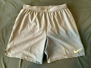 Men's 7 Brief Lined Running Shorts Nike Flex Stride AT4014 Gray Medium $35.00
