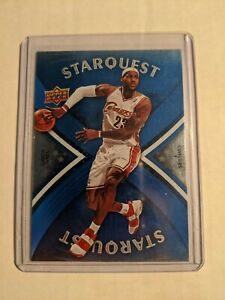 2008 09 Upper Deck Basketball Cards Starquest Blue Super Rare LeBron James