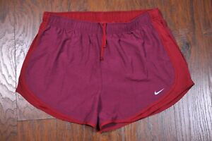 Nike Dri Fit Tempo Lined Shorts Maroon Red Women's XL $7.50