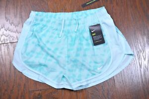 NWT Nike Dri Fit Tempo Lined Shorts Blue Printed Women's Large L $13.50