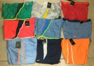 New Nike Womens Tempo Running Shorts Print and Solid Design Sz XL $20.00