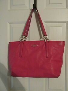 *** COACH SOFT LEATHER PINK PURSE TOTE ***
