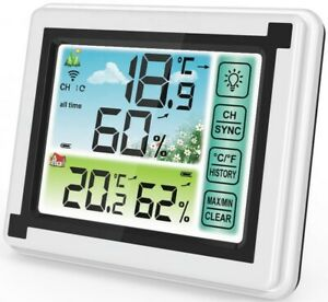 Weather station digital Thermometer Hygrometer Indoor Outdoor Temperature $16.99