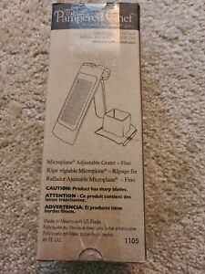 Pampered Chef Microplane Adjustable Fine Grater 1105 Brand NEW Original Box