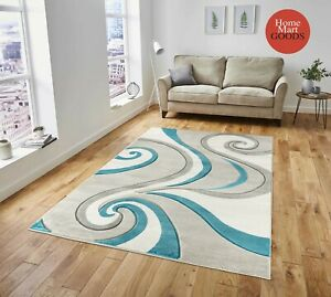 Brand New Swirls Hand Carved Soft Living Room Modern Contemporary Area Rug $120.00