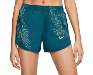 Nike Shorts Womens Small Turquoise Blue New Dri Fit Tempo Flash 3 Inch Running $28.99